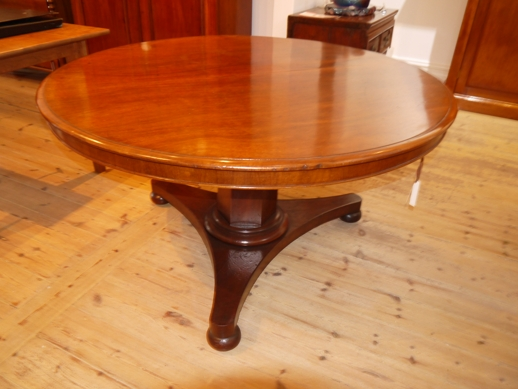 Art deco lamp table with shelf to one side, decorative veneer including Queensland walnut